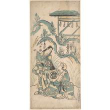 Torii Kiyomasu I: Ichimura Kamezo and Arashi Tomonosuke - Metropolitan Museum of Art