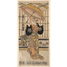 鳥居清倍: The Actor Ichimura Uzaemon VIII 1699–1762 as a Woman with Parasol - メトロポリタン美術館