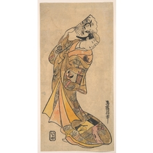 鳥居清倍: The Actor, Nakamura Shichisaburo II, 1703–1774 as a Woman with Fan - メトロポリタン美術館