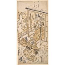 Torii Kiyomasu I: The Actor Sawamura Sojuro I as Sasaki no Saburo - Metropolitan Museum of Art