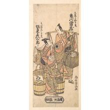 鳥居清満: Scene From a Drama: Ichikawa Raizo in the Role of Yaoya Kajuro - メトロポリタン美術館