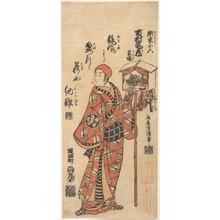 鳥居清満: Ichimura Kamezo in the Role of Kanto Koroku - メトロポリタン美術館
