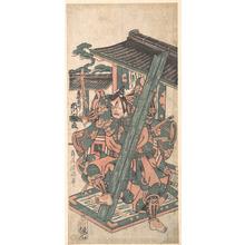 鳥居清満: Ichikawa Danjuro IV in the Role of Okazaki Akushiro - メトロポリタン美術館