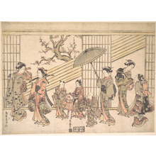 Torii Kiyomitsu: Children Play-acting a Daimyo Procession - Metropolitan Museum of Art