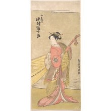 鳥居清満: The Actor Nakamura Tomijuro in the Role of Koshizuka - メトロポリタン美術館