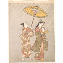 Torii Kiyomitsu: Komachi Praying for Rain - Metropolitan Museum of Art