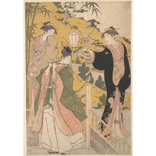 鳥居清長: Yoshitsune Serenading Jorurihime - メトロポリタン美術館