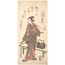 鳥居清満: The Actor Sanogawa Ichimatsu as Soga no Goro - メトロポリタン美術館