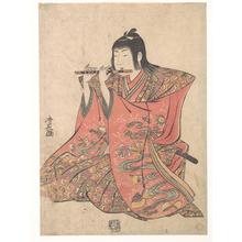 鳥居清長: A Doll Representing a Boy Playing a Flute - メトロポリタン美術館