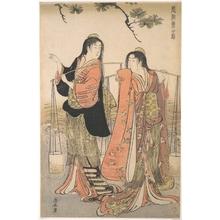 鳥居清長: The Dance of the Beach Maidens from the series Brocade of the East - メトロポリタン美術館