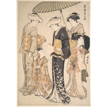Torii Kiyonaga: Presenting Children at a Shrine, from the series,