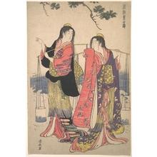 鳥居清長: The Salt Maidens Murusame and Matsukaze - メトロポリタン美術館