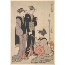 Torii Kiyonaga: Two Courtesans and a Geisha - Metropolitan Museum of Art