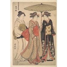 鳥居清長: Geisha of the Tachibana Street - メトロポリタン美術館