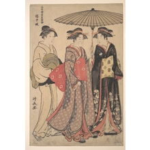 鳥居清長: Dancers of Tachibana Street - メトロポリタン美術館