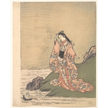 Komatsuken: A Girl on the Edge of a Stream Sees a Demon's Head in the Water - メトロポリタン美術館