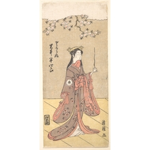 Torii Kiyotsune: The Actor Iwai Hanshirô IV as Sakura Hime, the Cherry Princess - Metropolitan Museum of Art