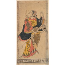 鳥居清信: Actor as Woman with Hobby–horse in Unidentified Role - メトロポリタン美術館