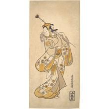 鳥居清信: Ichikawa Monnosuke as a Sarumawashi or Monkey Showman - メトロポリタン美術館