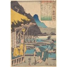 Utagawa Kuniyoshi: The Poet's Cabin in Tatsumi - Metropolitan Museum of Art