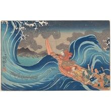 Utagawa Kuniyoshi: Life of Nichiren: A Vision of Prayer on the Waves - Metropolitan Museum of Art