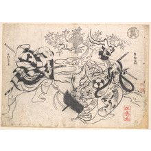 Okumura Masanobu: Two Actors in a Yari-odori, i.e. Spear Dance - Metropolitan Museum of Art