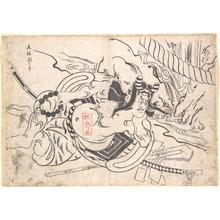 奥村政信: Ichikawa Danjuro I as Soga Goro - メトロポリタン美術館