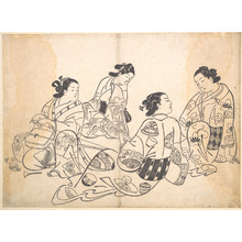 Okumura Masanobu: Group of Four Women - Metropolitan Museum of Art