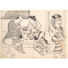 奥村政信: Amorous Couple - メトロポリタン美術館