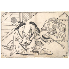 Hishikawa Moronobu: Two Lovers - Metropolitan Museum of Art