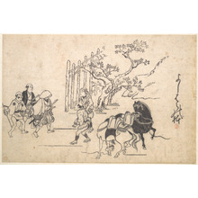 菱川師宣: Two Young Samurai - メトロポリタン美術館