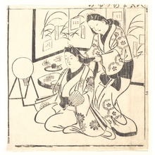 Hishikawa Moronobu: Leaf from a Book Entitled: Wakoku Hiaku-jo, One Hundred Japanese Women - Metropolitan Museum of Art