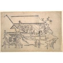 Hishikawa Moronobu: Flower-Viewing Scene - Metropolitan Museum of Art