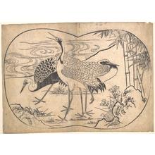 菱川師宣: Cranes - メトロポリタン美術館