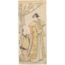 鳥居清長: The Actor Nakamura Rike as a Samurai in Ceremonial Costume - メトロポリタン美術館