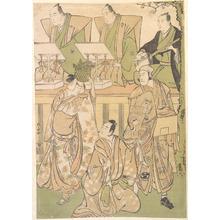 Torii Kiyonaga: Ichikawa Danjuro Fifth as Kyo no Jiro in Disguise as Dekuroku byoe the Stree Puppet-showman - Metropolitan Museum of Art