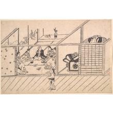 菱川師宣: A Banquet in a Joroya - メトロポリタン美術館