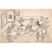 菱川師宣: Interior Scene in the Yoshiwara - メトロポリタン美術館