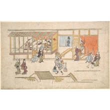 Hishikawa Moronobu: Scene in the Yoshiwara - Metropolitan Museum of Art