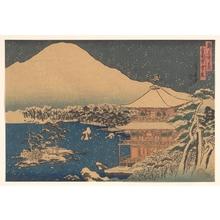 Hasegawa Sadanobu: Kinkakuji seen in Falling Snow - メトロポリタン美術館