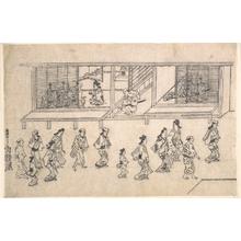 Hishikawa Moronobu: Street Scene in the Yoshiwara - Metropolitan Museum of Art