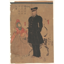 Utagawa Sadahide: American Merchant Strolling in Yokohama - Metropolitan Museum of Art