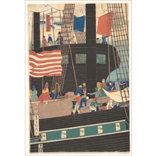 Utagawa Sadahide: Yokohama Trade: Picture of Westerners Shipping Cargo - Metropolitan Museum of Art