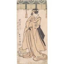 Toshusai Sharaku: The Actor Segawa Tomisaburo II as the Otomos' Maid Wakakusa, Actually Prince Korehito - Metropolitan Museum of Art