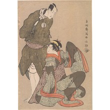 Toshusai Sharaku: Bandô Hikosaburô III in the Role of Obiya Chôemon and Iwai Hanshiro IV in the Role of Shinanoya Ohan - Metropolitan Museum of Art