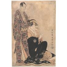 東洲斎写楽: Sagawa Kikunojo III as the Courtesan Katsuragi,and Sawamura Sojuro - メトロポリタン美術館