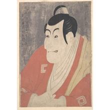 Toshusai Sharaku: Ichikawa Ebizô IV as Takemura Sadanojô in the Play Koinyôbô Somewake Tazuna - Metropolitan Museum of Art