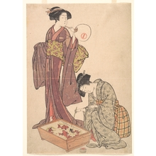 Kitao Shigemasa: Two Women Feeding Fish - Metropolitan Museum of Art