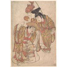 北尾重政: Boys Maquerading as Daikoku and Ebisu - メトロポリタン美術館