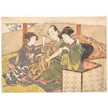 Kitao Shigemasa: Servant Applying Medicinal to Geisha's Arm - Metropolitan Museum of Art